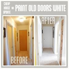 paint wood trim white for a house update