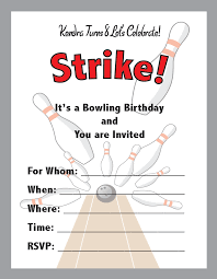 Bowling Party Invitation Invitation Ideas Bowling Birthday Party Invitations
