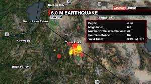 northern California. The largest quake ...