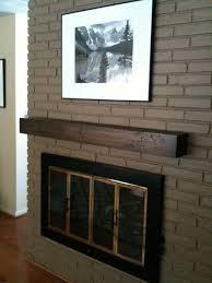 custom made custom wood mantel shelf