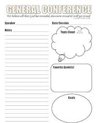 Lds General Conference Notes Template That I Designed Craft And
