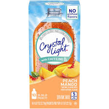 Does Crystal Light Raspberry Iced Tea Have Caffeine Crystal Light Peach Mango Drink Mix With Caffeine 0 07 Oz Pack Of 6
