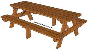 8 picnic table 8 ft picnic table plans pdf