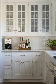 Delightful Glass Front Kitchen Cabinets