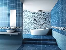 Small Blue Bathrooms Bathroom Small Blue Bathroom With White Floating Vanity Cabinet
