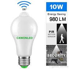 lighting bulb b22 e27 pir motion sensor aluminum design led night light 10w 85 265v lamp for balcony corridor path garden t5 bulbs led bulbs from