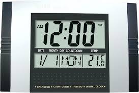 lcd wall clock digital wall clock jumbo lcd digital wall clock
