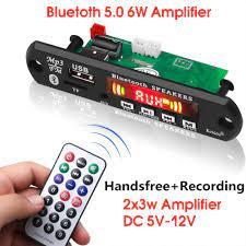 Mạch giải mã máy nghe nhạc Mp3 5V 12V hỗ trợ Bluetooth 5.0 màn hình màu cao  cấp
