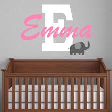 monogram nursery elephant wall decal