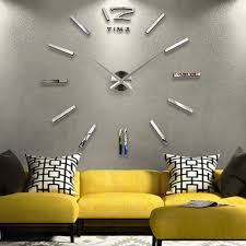 W49 Wall Clock Super Size DIY Originality Clock Bedroom Parlor The Wall  Decoration Times Hour