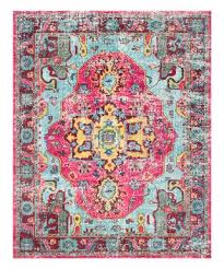 nuloom blue pink arabesque fl rug