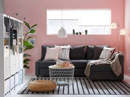 ikea sitting room furniture. living room with dark gray sofabed pink walls and a striped rug ikea sitting furniture i
