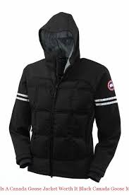 Is A Canada Goose Jacket Worth It Black Canada Goose Mens Hybridge Hoody  Parka Cheap