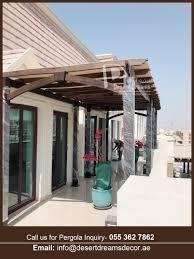 Roof Shade Design Professional Wooden Pergola Company In Uae