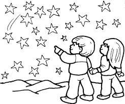 Small Picture the star coloring pages boy and girl look 597405 Coloring Pages