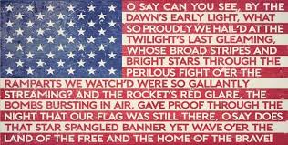 Image result for usa national anthem lyrics