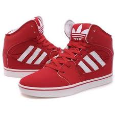 adidas red shoes. perfect - adidas high tops red white fashion, shoes, sneakers, zendaya, to shoes