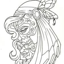 Small Picture Day Of The Dead Coloring Pages For Adults Archives Mente Beta