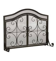 image is loading openbox large crest fireplace screen with doors solid