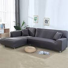 sectional sofa covers. Beacon Pet Sofa Covers For L Shape 2pcs Polyester Fabric Stretch Slipcovers + Pillow Sectional
