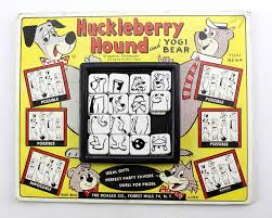 dels about 1960 vine huckleberry hound yogi bear oo slide tile puzzle on card roalex