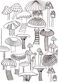 Small Picture mushroom coloring sheets nature mushrooms instant printable