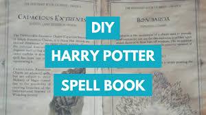 diy harry potter spellbook