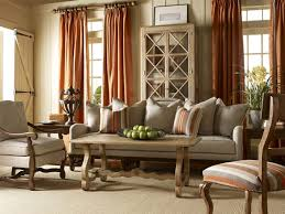 Plaid Curtains For Living Room Fine Country Living Room With White Leather Sofa And Brown Wooden