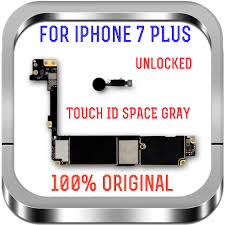 For iPhone 7 Plus Motherboard Touch ID,100% Original Unlocked Logic boards  Clean iCloud 7Plus A1784 32GB 128GB 256GB|Mobile Phone Antenna