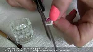 How To Apply Water Nail Decals (Stickers) Over Gelish Gel Polish ...