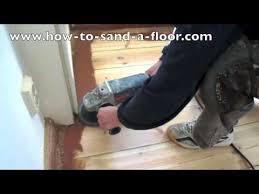 sanding pine wooden floors how to sand a wooden floor