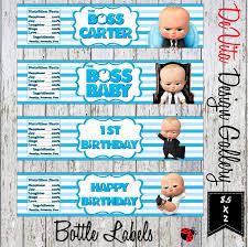 Devita Designs Boss Baby Inspired Water Bottle Labels Boss Baby Water Custom Water Bottle Labels Baby Boss Party Printable Boss Baby Water Digital File