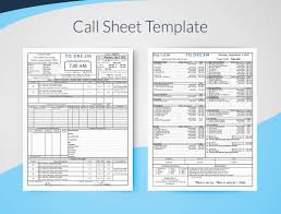Customer Call Sheet Template Creating Professional Call Sheets Free Template Download