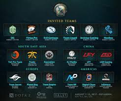 dota 2 the international 2017 teams announced
