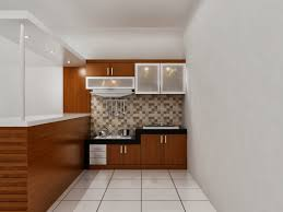 kitchen set dapur bersih pantry dengan mini bar