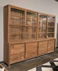 large four sliding glass door step back cabinet