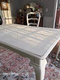 a dining room set with chalk paint