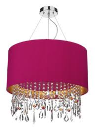 lizard 1 light pendant complete with silk shade hot pink gold laminate