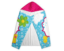 Bath Towels Personalized Hooded Towel For Kids Hey There Home Personalized Hooded Towel For Kids April Shower Girl Pink Umbrella