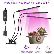 House Plant Led Grow Light Led Grow Light 30w Triple 3 Head Plant Lamp Timing Full