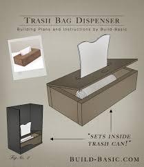 build a trash bag dispenser building plans by buildbasic build basic