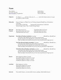 Resume Template For Mac Fresh Free Resume Template For Mac Valid