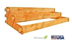 cedar raised garden bed kit beds planters decor by gardens 3 tiered