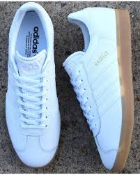 adidas gazelle trainers white leather gum