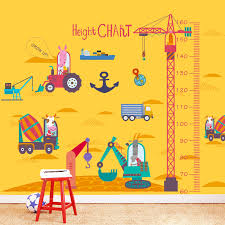 Children S Height Measurement Chart Usd 6 49 Removable Height Ruler Cartoon Childrens Room