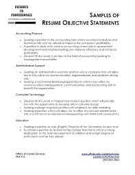 Great Objectives For Resumes Objectives Resume Example Career For Objective Examples Best Of 72