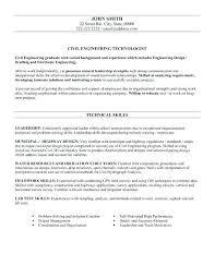 Mechanical Engineering Technologist Resume Sample Civil Engineer