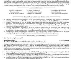 Government Military Resume Objective Piqqus Com