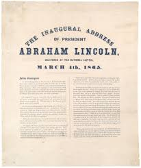 paper president lincoln s second inaugural address the   1865 paper abraham lincoln essay paper er pharmacist cover letter president lincoln s second inaugural address