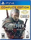 PS4 The Witcher 3 Wild Hunt Complete Edition